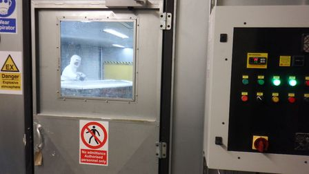 The new temperature controlled area at Hatcher Components. Picture: Hatcher Components
