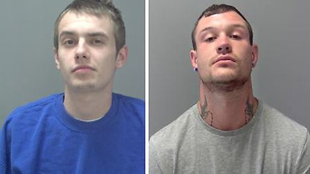 Phillip Jolly and Aidan Talbot, who were jailed for a total of 20 years at Ipswich Crown Court today