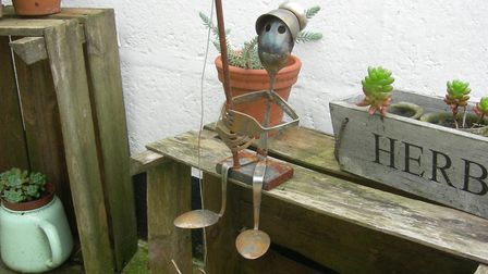 Metal sculptures are available at the Stonham Barns Christmas Craft Fair this weekend. Picture: CONT