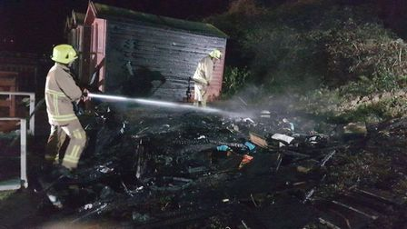 The scene of a fire in Walton-on-the-Naze. Picture: ESSEX COUNTY FIRE AND RESCUE SERVICE