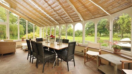 Practice your tennis skills at this lovely farmhouse. Picture: BARRY PARTEN.