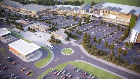 An artist's impression of Tollgate Village. Picture: TOLLGATE PARTNERSHIP