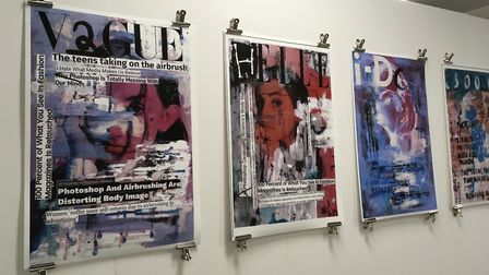 The Anna Airy exhibition for A level art students being held at the University of Suffolk. Photo: An