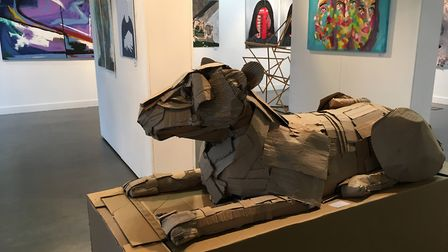 Lioness, by Katie Patridge, Ipswich High School, part of the Anna Airy exhibition for A level art st