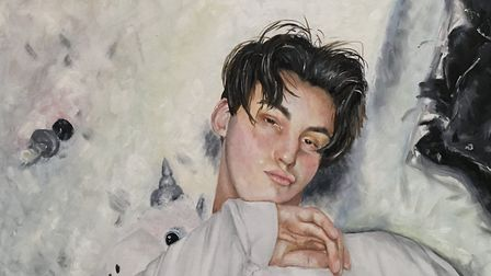 Jack 04/04/17, by Ellie Beard, Suffolk One, part of the Anna Airy exhibition for A level art student