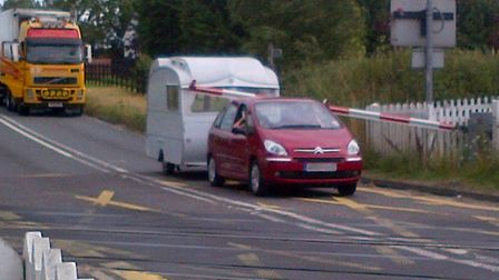 There have been incidents at the Darsham level crossing over the years. In 2012 a car and caravan go