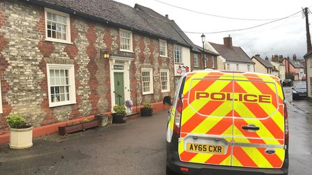 A forensics van outside Richard and Sarah Pitkin's home in Stowmarket. Picture: MATT REASON
