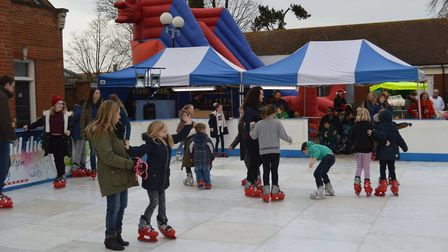 People enjoying the ice rink last year. Picture: FELIXSTOWE TOWN COUNCIL