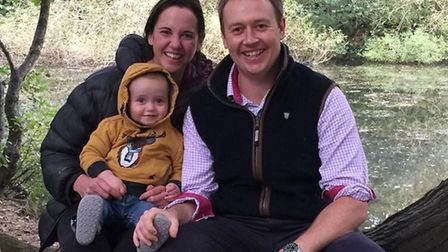 FRESH START: Claire and Matthew Thacker, new owners of Cretingham Golf Club, with their one-year-old