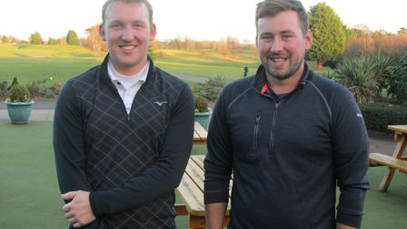 James Hastie (left) and Ryan Hastie of Haverhill who won the final Suffolk Winter Alliance meeting o
