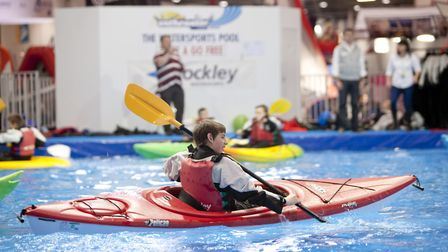 A chance to try out canioeing in the watersports holiday area. Picture: onEdition