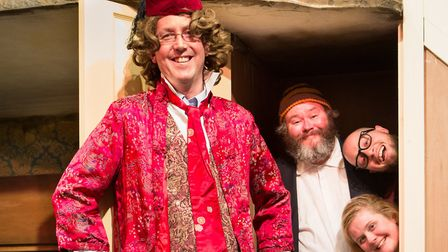 Malcolm McGready, senior partner at Ensors, with the cast of The Ladykillers of Humber Doucy Lane.