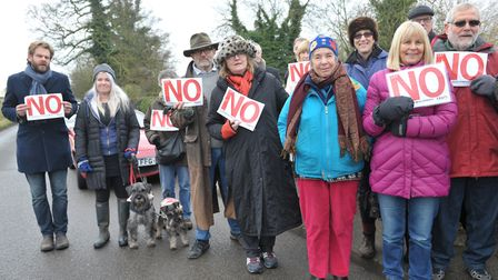 Members of the Framlingham Residents' Association campaigned against plans for new homes in the town
