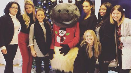 Leaders, Ipswich office staff on Festive Friday, charity fundraising day.