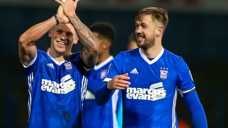 Luke Chambers has praised the impact of Town's summer signing, including Martyn Waghorn (left). Pi