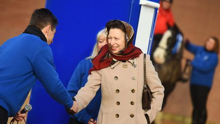 Riding for the Disabled Association centre staff chat to the Princess Royal. Picture: GREGG BROWN