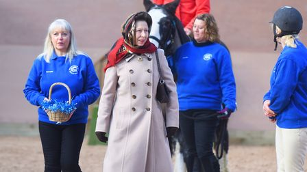 Princess Royal chats to the staff at the centre. Picture: GREGG BROWN