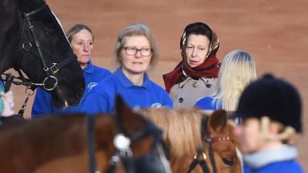 Princess Royal meets some of the service users at the Riding for the Disabled Association centre in