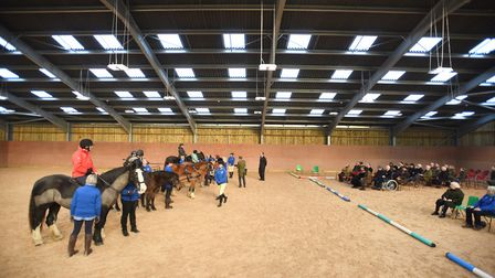 Princess Royal opens the Riding for the Disabled Association centre in Clopton. Picture: GREGG BROWN