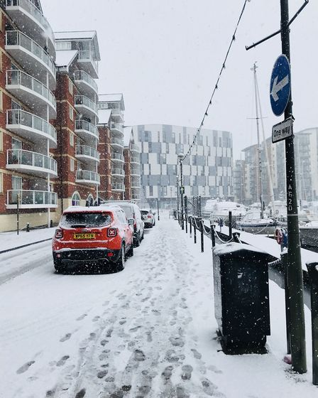 Snow scenes in Ipswich. Picture: Emilly Townsend