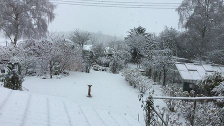 Flowton in the snow. Picture: Susan Woods