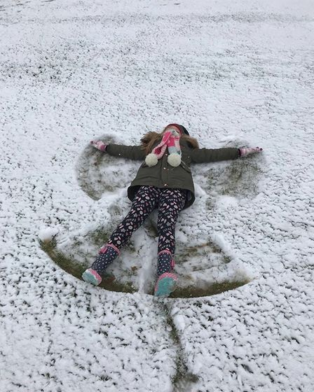 Snow Angel, Cerys, from Stowupland. Picture: Debbie King