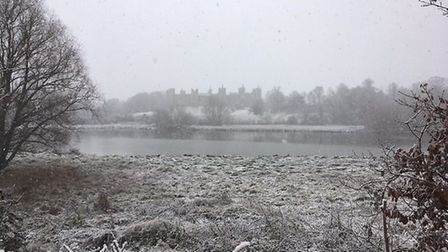 Framlingham mere with the castle in the distance. Picture: Andrew Hirst