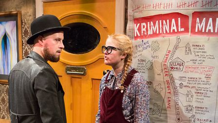 Todd Heppenstall and Emma Barclay in the Eastern Angles Christmas show The Ladykillers of Humber Dou