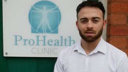 Oliver Eaton, of ProHealth Clinic. Picture: Panpathic Communications, contributed