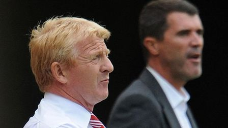 Middlesbrough manager Gordon Strachan (left) and Ipswich manager Roy Keane. Picture: Owen Humphreys/