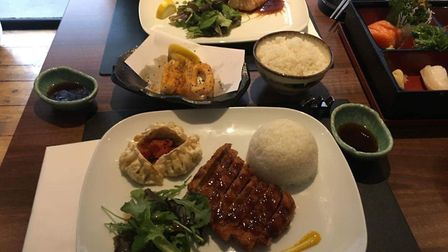 Main courses at Takayama Ipswich. PICTURE: Archant