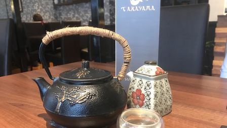 Green tea served in a cast iron pot at Takayama Ipswich. PICTURE: Archant