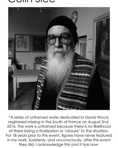 Colin Slee's statement on his work for the From Life exhibition. Picture: STEPHEN HICKLIN