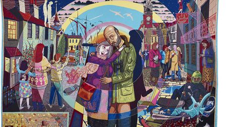 In its Familiarity Golden by Grayson Perry 2015. Copywright Grayson Perry. Courtesy the artist, Para
