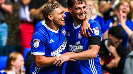 Martyn Waghorn, left, and Joe Garner. Have been two excellent signings for Town. Picture: STEVE WAL