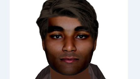 Police investigating a rape in Lowestoft have issued this e-fit of a man they want to speak to in co