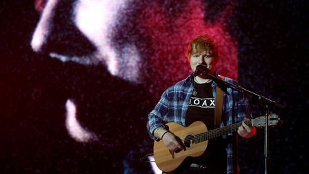 Ed Sheeran performs on stage during day two of Capital's Jingle Bell Ball with Coca-Cola at London's