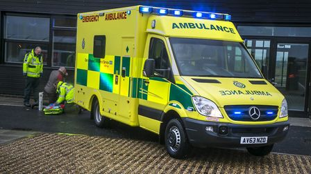 An East of England Ambulance Service Trust ambulance. Picture: CRAIG PUSEY