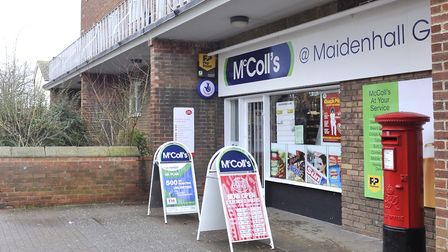 The McColls convenience store in Maidenhall Green, Ipswich, was the scene of an armed robbery. Pictu