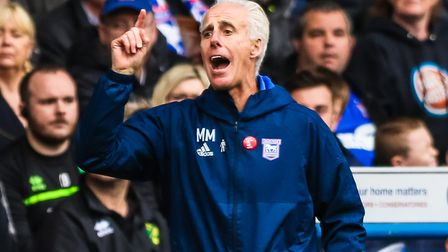 Town manager Mick McCarthy - will the Town boss get extra funds in the January transfer window? Phot