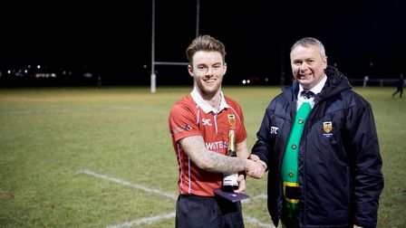 Colchester's Jack White was man of the match in their win over Eton Manor. Picture: JANUS@VANCOLS.CO