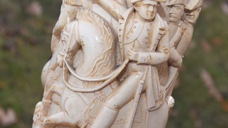 Close up of a large pipe featuring Napoleon. Picture: GREGG BROWN