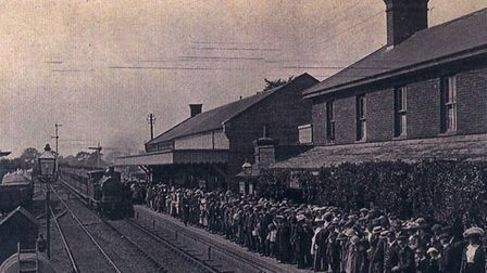 Halcyon days that didn't last. A packed Leiston railway station. Picture: JOYCE BUCK