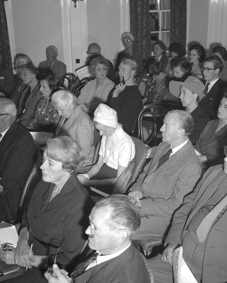 A meeting held in Aldeburgh in September, 1965, to discuss rail closure. Picture: ARCHANT