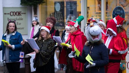 Entertainers at Christmas Street Fair. Picture: CHRIS MAPEY