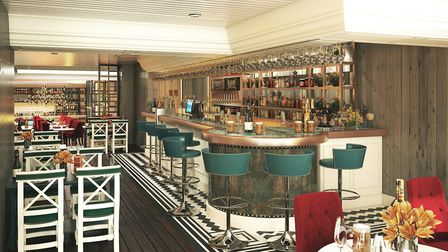 Artist's impression of the Oyster Bar at the revamped George Hotel in Colchester. Picture: FLYING TR