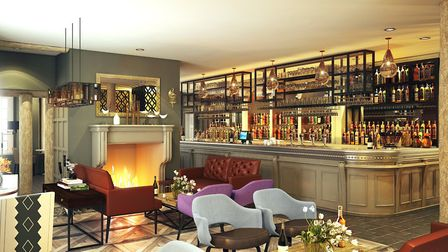 Artist's impression of the lounge at the revamped George Hotel in Colchester. Picture: FLYING TRADE