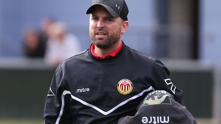 Heybridge manager, Jody Brown, whose team failed to score a goal for the first time in 28 matches, a