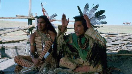 Graham Greene, right, and Rodney A Grant in the Oscar-winning film Dances With Wolves - a movie whic