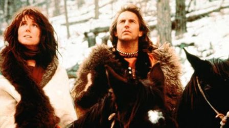 Kevin Costner and Mary McDonnell in the Oscar-winning film Dances With Wolves - a movie which offere